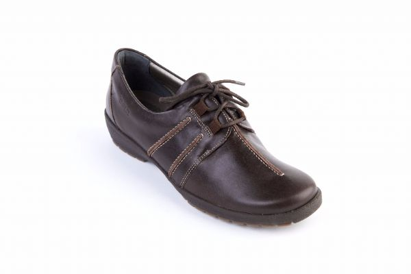 Joan soft dark brown leather tie suave shoe.